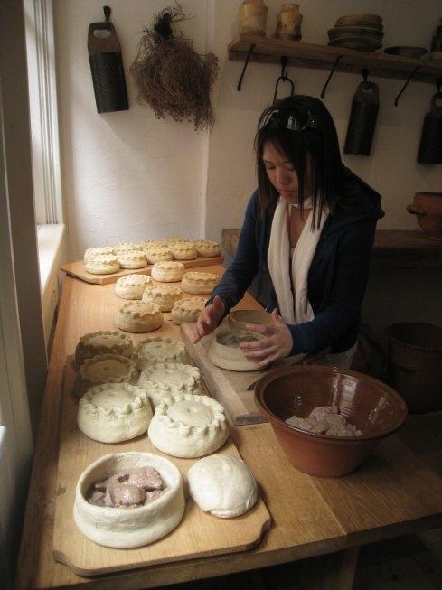 Hampton Court Palace. Tudor kitchen Pot Pies