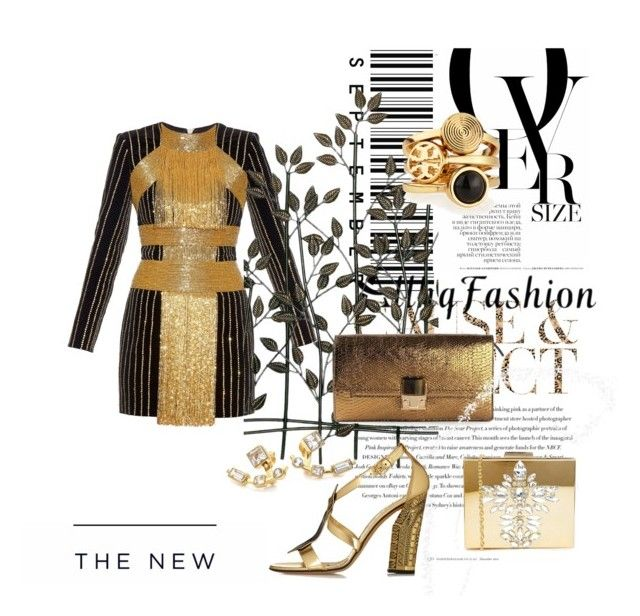 #8 by carmen-dana on Polyvore featuring Balmain, Casadei, Lanvin, Skinnydip, Tory Burch, Elizabeth and James, Universal Lighting and Decor, Envi and American Eagle Outfitters