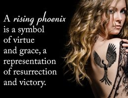 Meaning of a rising Phoenix tattoo, and the raven is death and fear. So perfect together.