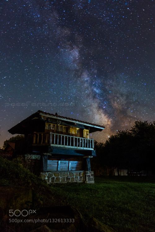 Where the roads end by farero  asturias canon farero horreo milky way nightshot nocturna spain farero
