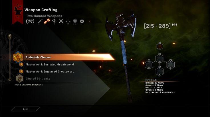 Dragon Age Inquisition UI