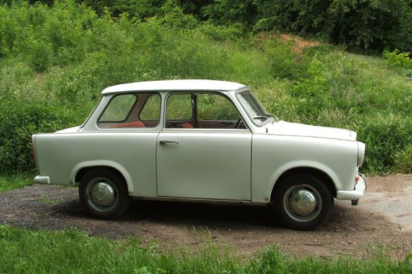 This car is just too cute! I want it in green, with purple interior.  Trabant 601