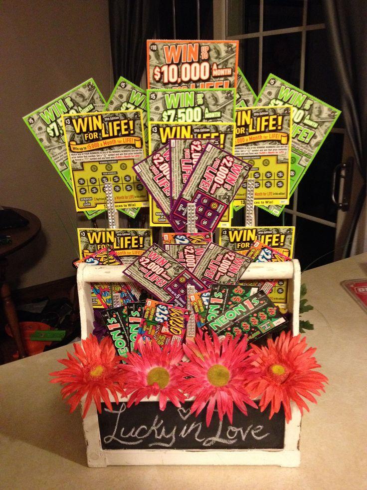 Lotto Basket for Jack & Jill Raffle! #YellowWeddingIdeas