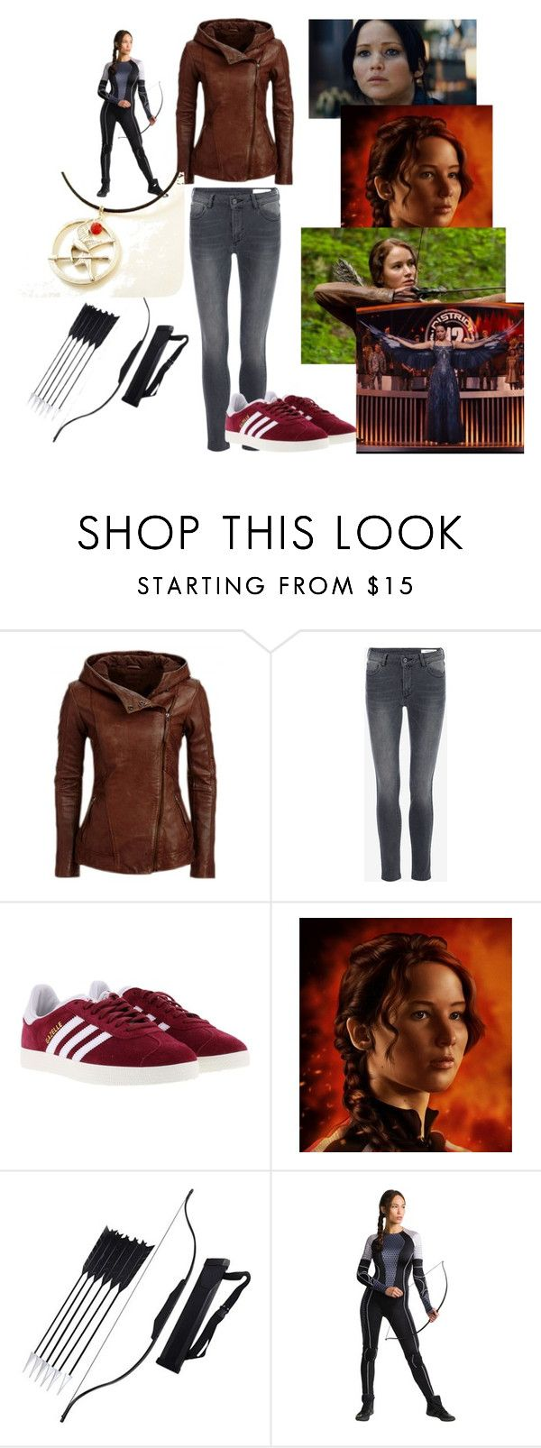 Katniss Everdeen by shinee4ever on Polyvore featuring adidas and fandomstyle