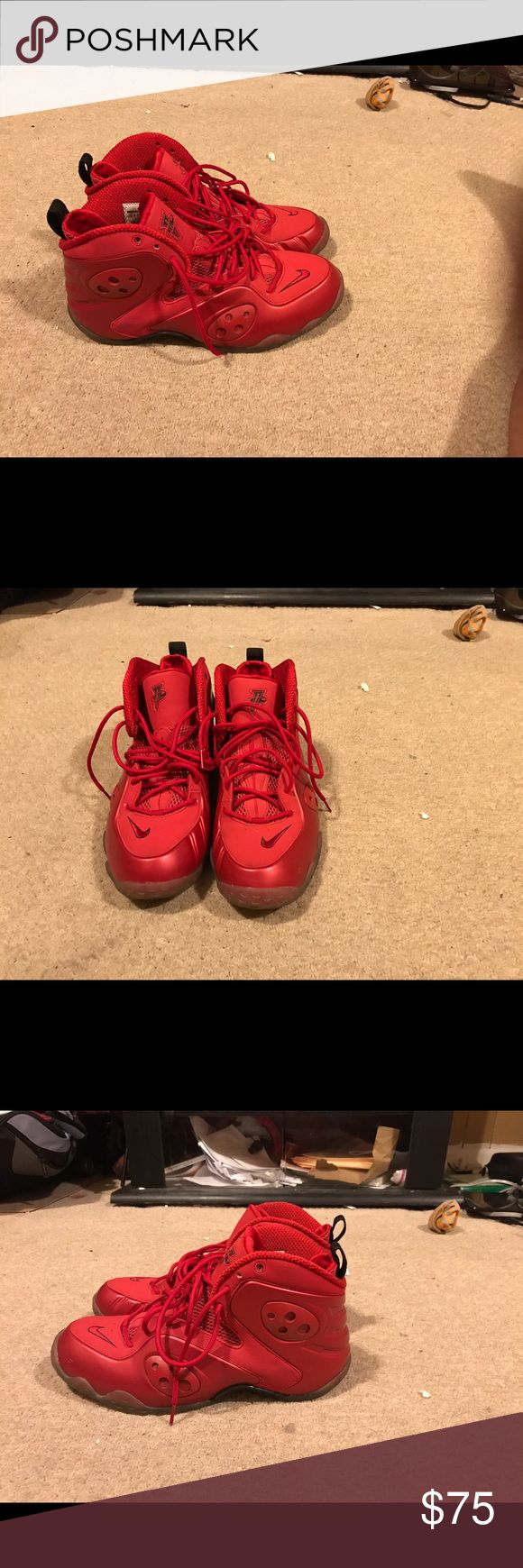 Nike Penny Zoom Rookie Red Red October size 10.5 Worn Once. 9/10 condition. Does not come WILL original box. Nike Shoes Sneakers