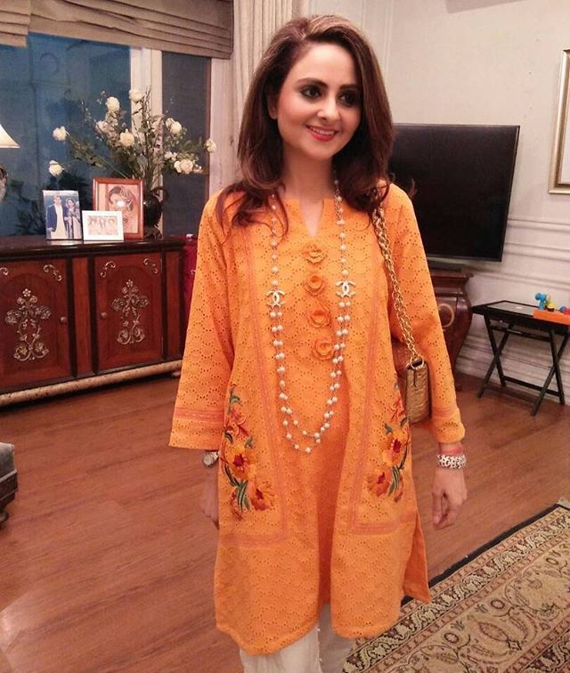 """Sehr Ashar looks stunning in this Embroidered Classic from IVY Pret. Get it for Eid today at our Lahore Flagship Store at Hussain Chowk MM Alam Road. Shop Online: www.theivyprints.com (Cash on Delivery). #Lahore #Islamabad #Karachi #Embroidery #Stunning #wow #Fashion #HighFashion #mustHave #orange #kurta #beijing #sydney #tokyo #delhi #mumbai #ladies #events #colombo #Shanghai"" by @theivyofficial. #이벤트 #show #parties #entertainment #catering #travelling #traveler #tourism #travelingram…"
