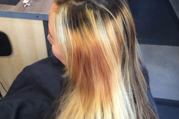 HOW-TO: Rich Red Hair Color with Golden Caramel Highlights | Modern Salon