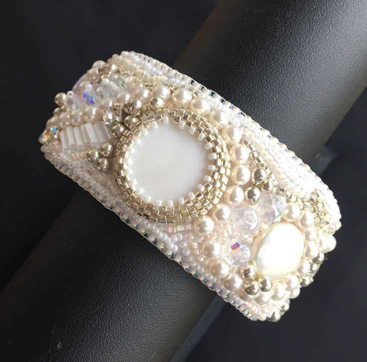 Exquisite Beaded Wedding Cuff by OnePeaceByJane on Etsy https://www.etsy.com/au/listing/478468485/exquisite-beaded-wedding-cuff