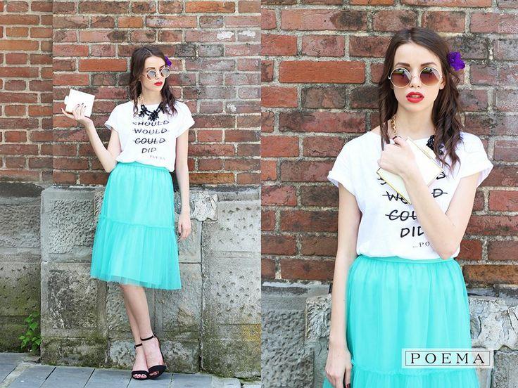 Fusta midi POEMA  http://shop.poema.ro/poemashop