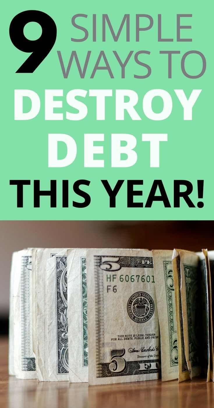 9 Simple Ways To Pay Off Debt Fast In 2019