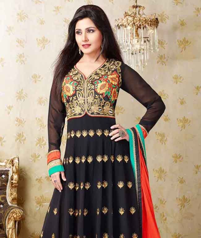 Now enjoy a stylish look with this chic collection of party wear suits  in this edit which will reveal your true style. Favored with the most luscious colours and designs, the sizzling range comprises must-have for all. Design Highlights: Heavy Zari, Resham Embroidery with Stone Work and Lace BorderBRAND: HypnotexCATEGORY: Unstitched Suit with DupattaARTICLECOLOURMATERIALLENGTHTopBlack and BeigeFaux Georgette3.00 metersBottomBlackShantoon2.25 metersDupattaOrangeChiffon2.25 metersWe would ...