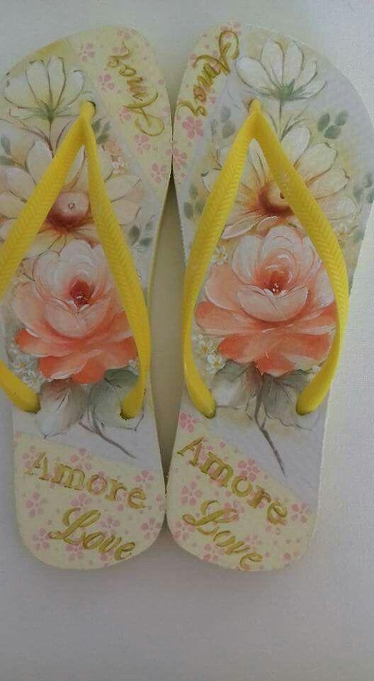 174b25c66cb89 Oi adorei a pintura em sandália