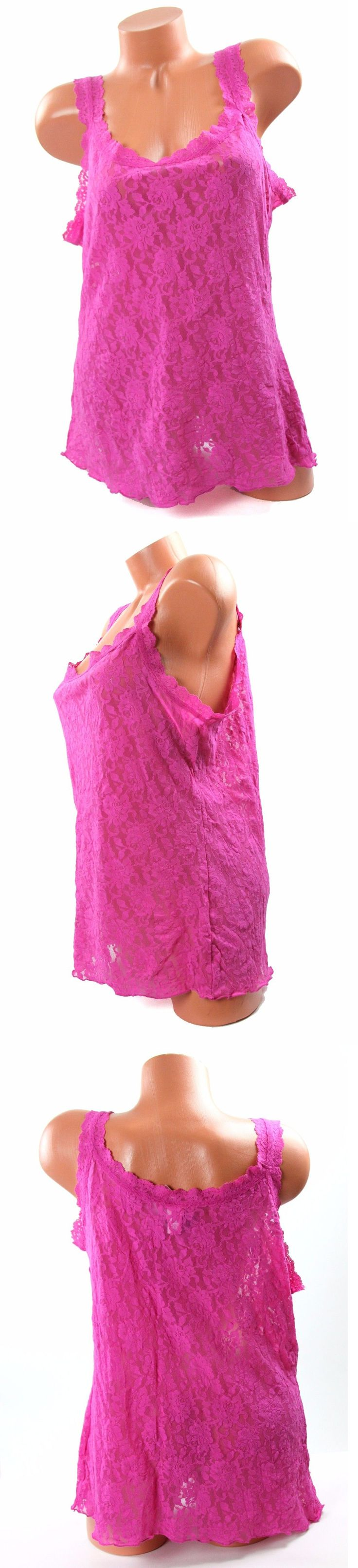 Camisoles and Camisole Sets 11521: Hanky Panky Hot Pink Plus Size Camisole 2X Nwt -> BUY IT NOW ONLY: $36.99 on eBay!