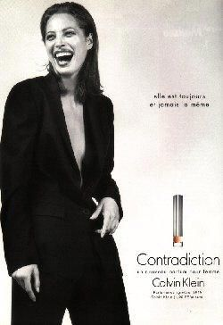 Contradiction by Calvin Klein with Christy Turlington (1997).
