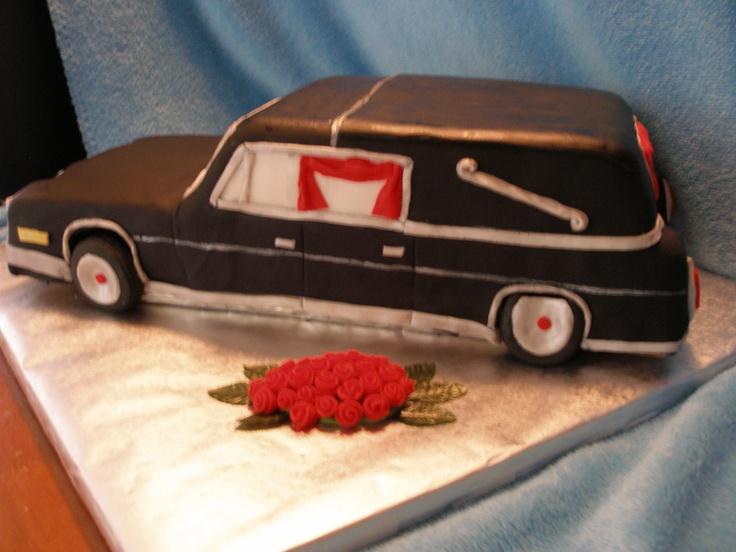 Hearse Birthday Cake