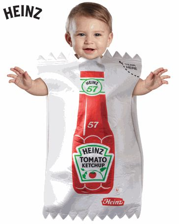 i wish i had a child just so i could be a hamburger for halloween and carry them around with me in this ketchup packet costume. anyone need a babysitter that night?? :]
