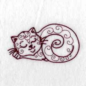 Free Embroidery Design: Cat - I Sew Free