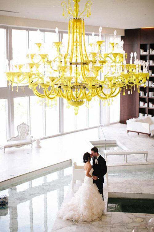 Modern chic wedding at the Viceroy Miami, photo by Becca Borge Photography | junebugweddings.com