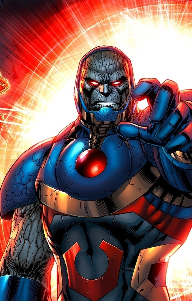"""Darkseid (pronounced """"Darkside"""") allot of idiots will think he's a rip off of Thanos"""