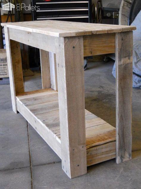 Hallway Pallet Table Pallet Desks & Pallet Tables
