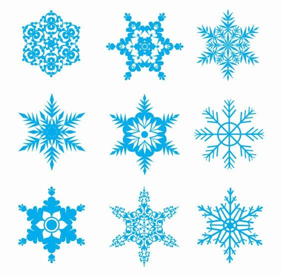 Snow Flakes Clip Art | Free Snowflakes Vector Set | Free Vector Graphics | All Free Web ...