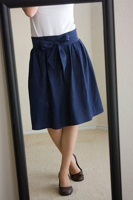 DIY Skirt! Love the little bow!