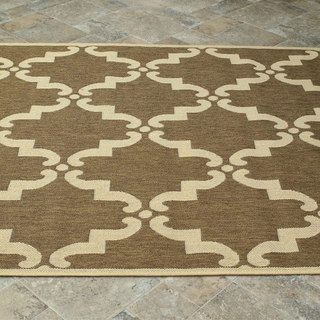 nuLOOM Modern Indoor/ Outdoor Moroccan Trellis Taupe Rug (9' x 12') | Overstock.com Shopping - The Best Deals on 7x9 - 10x14 Rugs