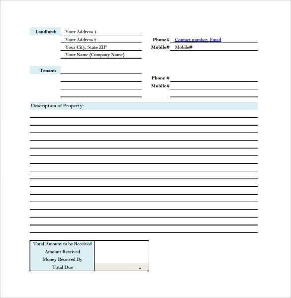Rent Receipt Template 1 Receipt Template Templates Word Template