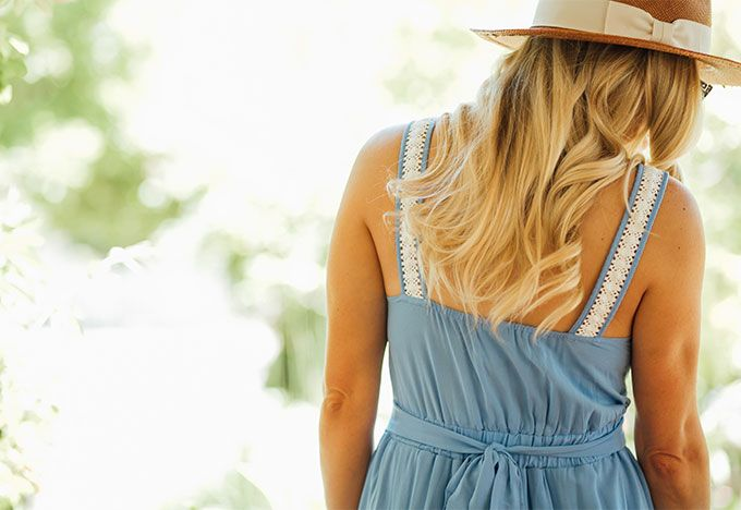 Erika Altes of whiskeyandlaceblog- Budget Buy I'm Loving: Lauren Conrad's Disney Collection | Hat | Dress | Sunglasses | Espadrilles
