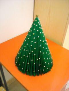 lodijoella: Como hacer un arbol navideño de papel