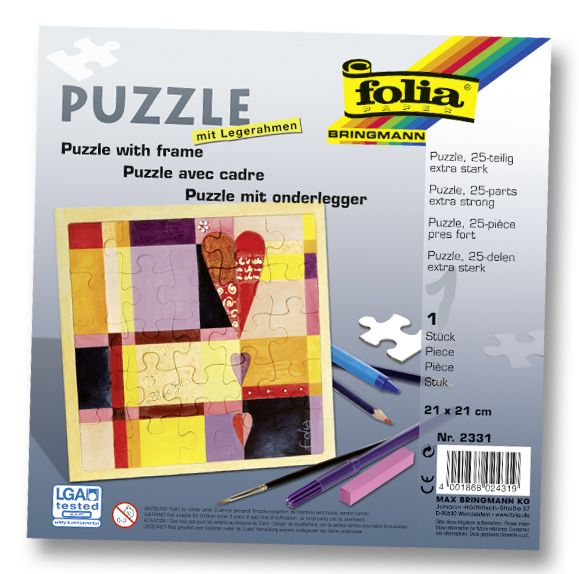 Die Puzzle mit Legerahmen von Max Bringmann gibt es mit 25 oder 35 Teilen und eignen sich auch für die Kleineren unter uns - mehr unter www.folia.de
