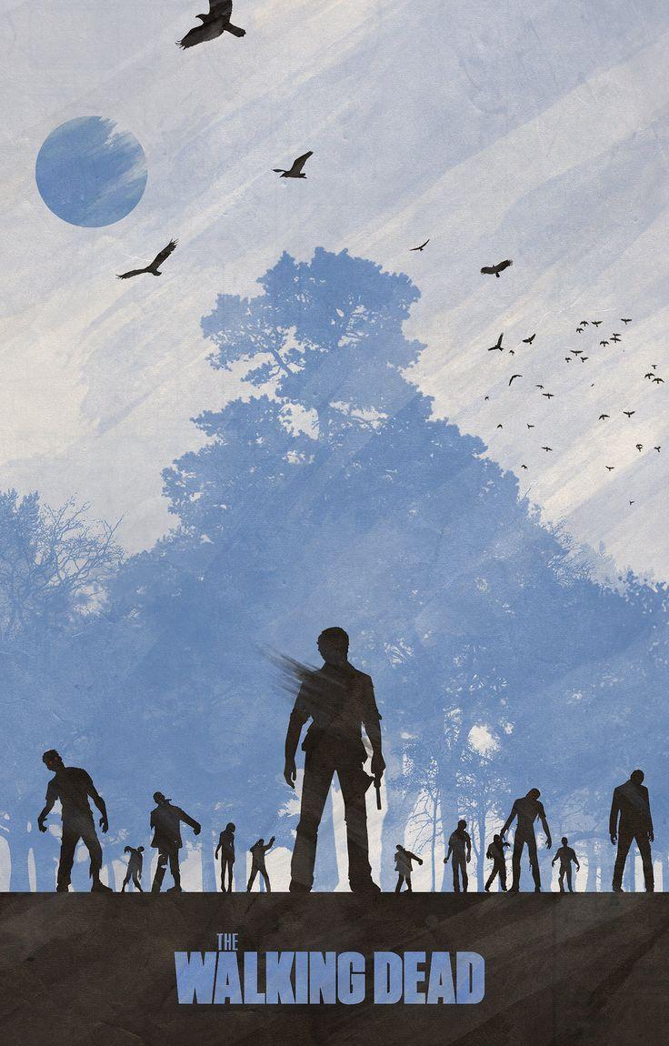 Temporadas de \u201cThe Walking Dead\u201d inspira série de pôsteres