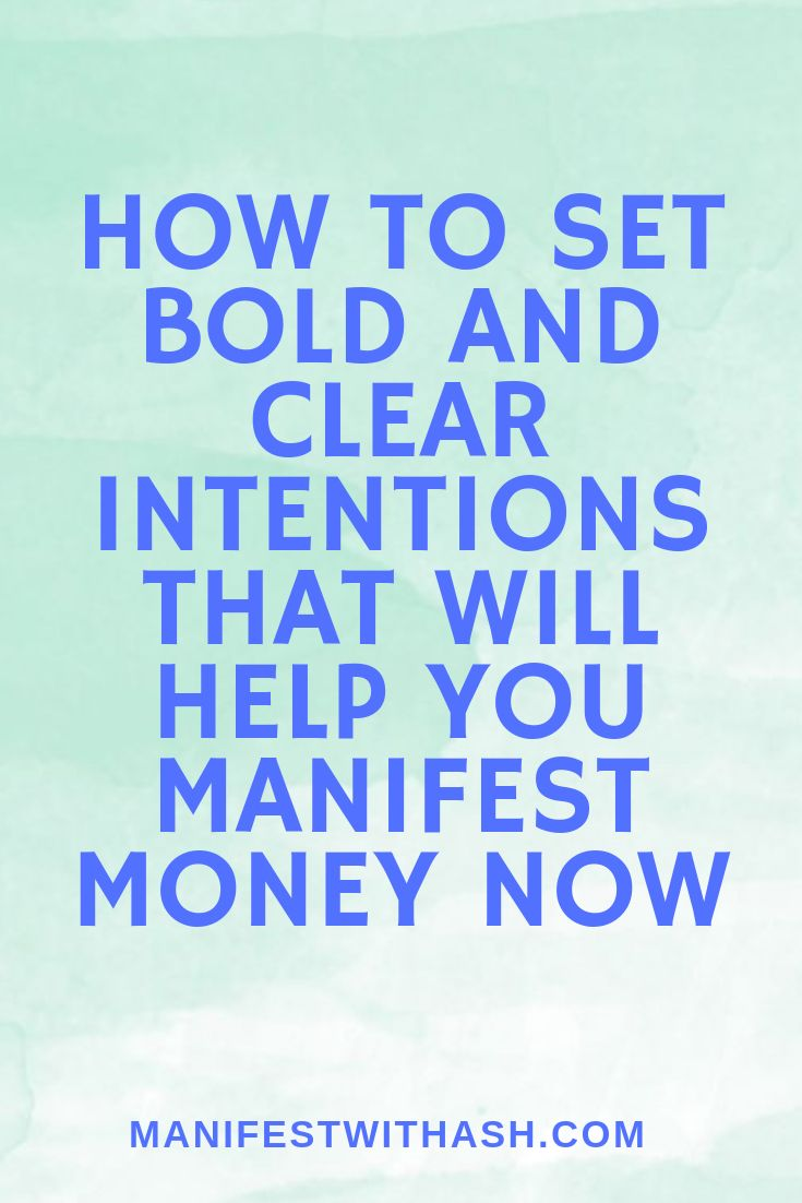 Set clear and bold intention and attract wealth, s…