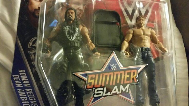 ROMAN REIGNS & DEAN AMBROSE - WWE WRESTLING ACTION FIGURES - SUMMER SLAM - http://bestsellerlist.co.uk/roman-reigns-dean-ambrose-wwe-wrestling-action-figures-summer-slam/