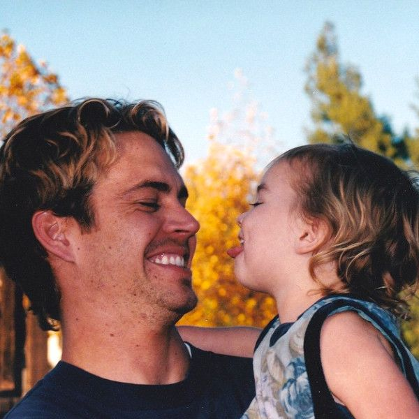 Meadow Walker Posted This Picture of Her & Her Dad On Her Instagram of Her Sticking Her Tongue Out at Her Dad, Paul Walker.  That's A Daddy's Love!! ❤️