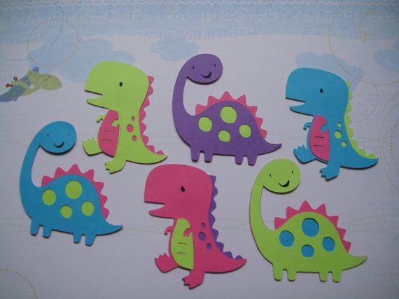 Trex & Brachiosaurus 6 girl dinosaur Cricut die by PaperKissesink, $3.00