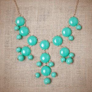 Turquoise Bubble Necklace #urbanpeachboutique
