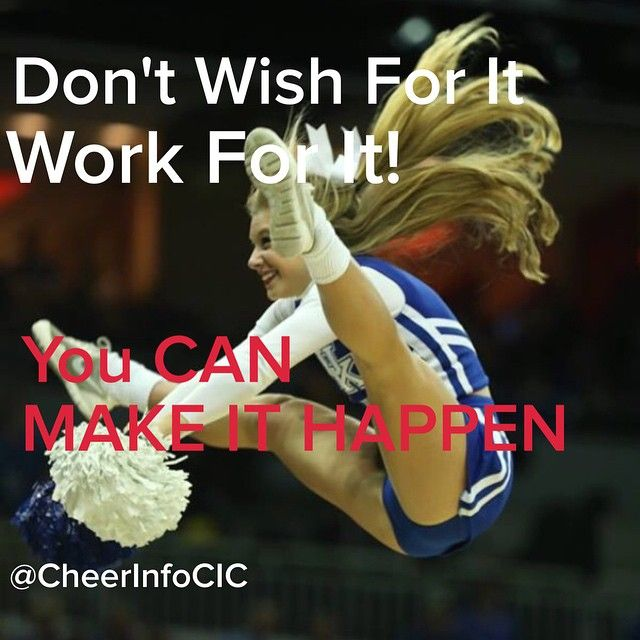 It is such a wonderful thing to know that you CAN accomplish anything that you really work for!! REPIN if you agree and let us know what your ultimate cheer goal is - All Star Cheerleading, College Cheerleading, etc.  Photo:  UK cheerleader CheerleadingInfoCenter.com