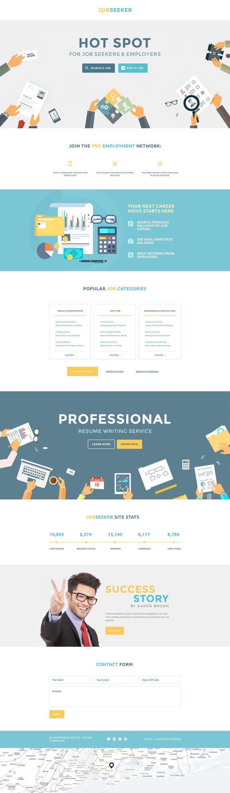 melhores ideias sobre job portal no layouts de job seeker landing page template