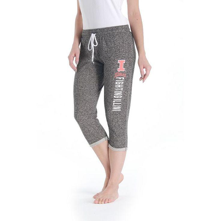 Women's College Concepts Illinois Fighting Illini Turf Knit Capris, Size: Medium, Grey Other