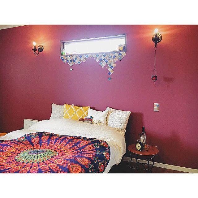 ラウンドビーチタオルが素敵!インテリアとして使うお部屋、増えてます   RoomClip mag   暮らしとインテリアのwebマガジン