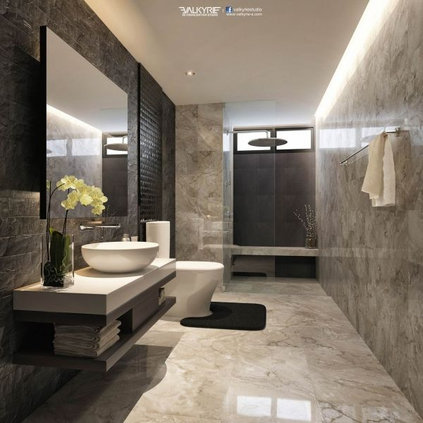 Modern Bathroom modern bathroom features a black framed shower enclosure filled with marble tiles fitted with a tiled shower niche as well as a polished nickel vin 25 Best Ideas About Modern Bathroom Design On Pinterest Modern Bathrooms Grey Modern Bathrooms And Contemporary Grey Bathrooms