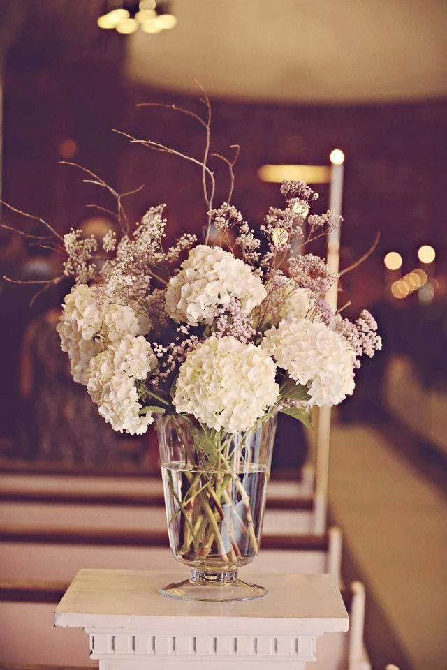 Hydrangea wedding arrangement
