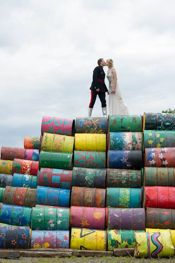 A Fancy Dress Glastonbury Festival Wedding: Alice & Matt