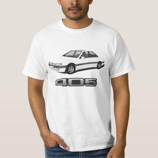 Peugeot 405 SRi + model badge, white, DIY   #peugeot #peugeot405 #automobile, #car #t-shirt, #print #europe #france #sri #405sri #80s #90 #