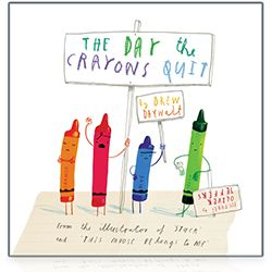 The Day the Crayons Quit storybook - By Drew Daywalt, Illustrated by Oliver Jeffers  Crayons have feelings, too, in this funny back-to-school story illustrated by the creator of Stuck and This Moose Belongs to Me -- now a #1 New York Times bestseller!