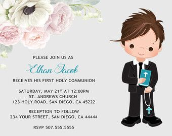 782c3e80635c4 First Communion Invitation