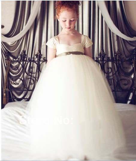 Дешевое 32 2014 створки бальное платье из органзы цветок девочки платья для свадьбы девушек театрализованного платья выпускного вечера платье блеск платье на заказ 2015, Купить Качество Платья для девочек с букетом непосредственно из китайских фирмах-поставщиках: описание:дорогие мои друзья, наши платья можно отрегулировать больших или малых несколько сантиметров. вы можете задать