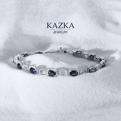 Золото💛, бриллианты💎, сапфиры💙 - наш любимый браслет, который мы уже видим на вашей ручке👍🏼. Посмотреть украшения с сапфирами - http://kazka.ua/pokazat-vse-ukrasheniya/sapfir/p-2/