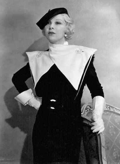 Glenda Farrell in Orry-Kelly, 1933. Orry-Kelly was one of the great Hollywood costume designers of the Golden Age, who designed outstanding wardrobes for contemporary, musical, and historical movies